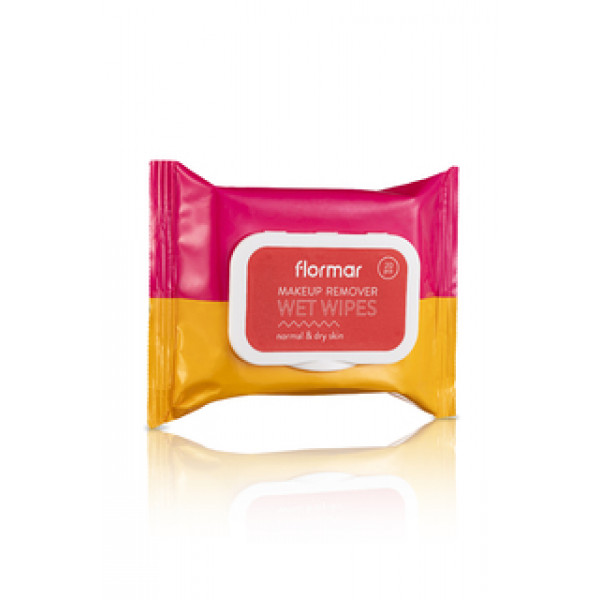 FLORMAR | MAKEUP REMOVER WET WIPES NORMAL AND DRY SKIN