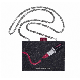 KARL LAGERFELD | MINAUDIÈRE CLUTCH BAGWITH FIVE-PIECE MINI LIP KIT