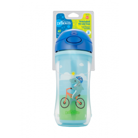 dr brown    10 oz / 300 ml Insulated Straw Cup - Blue (12m )