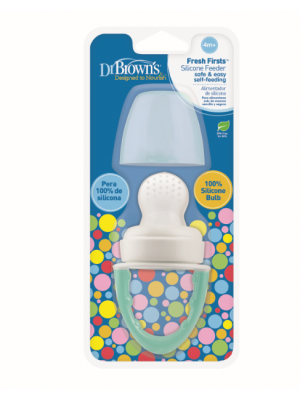 dr brown    Fresh Firsts Silicone Feeder - Mint, 1-Pack