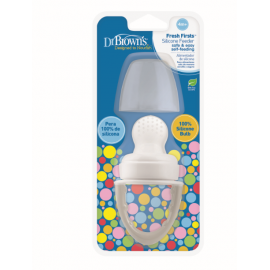 dr brown   Fresh Firsts Silicone Feeder - Grey, 1-Pack