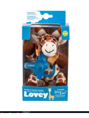 dr brown   Giraffe Lovey with Blue One-Piece Pacifier