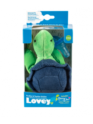dr brown    Turtle Lovey with Blue One-Piece Pacifier