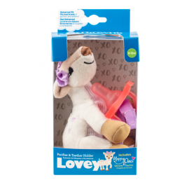 dr brown   Deer Lovey with Pink One-Piece Pacifier