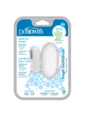dr brown    Silicone Finger Toothbrush with Case