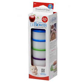 dr brown     Snack-A-Pillar™ Snack& Dipping Cup, 4-Pack