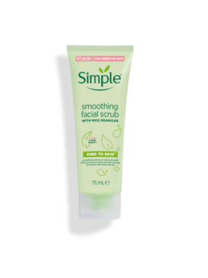 SIMPLE | simple smoothing facial scrub with rice granules 75ml