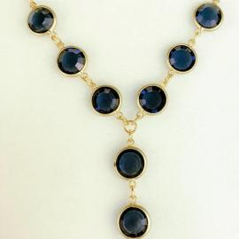 BLACK IRIS ACCESSORIES | Channel Necklace By Chico's Made with Swarovski Crystals