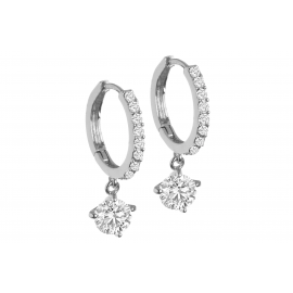 BLACK IRIS ACCESSORIES | Crystal Drop Hoop Earrings made with Swarovski elements