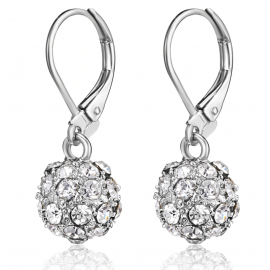BLACK IRIS ACCESSORIES | Crystal Fireball Earrings made with Swarovski Crystals