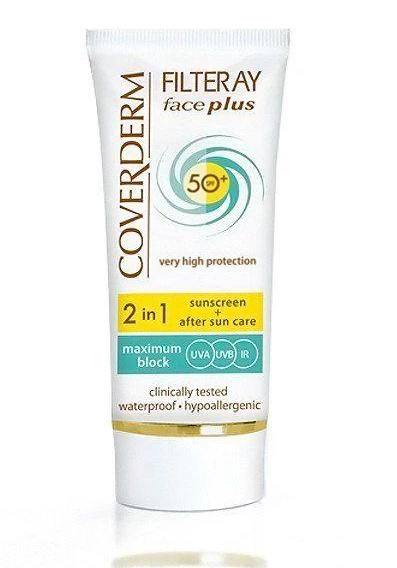 COVERDERM | Coverderm Filteray Face Plus SPF 50 For Dry Sensitive Skin 50ml